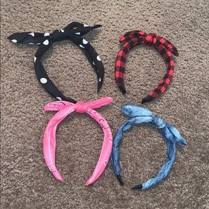 Set of 4 Bow Headbands